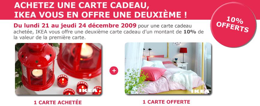 Carte cadeau ikea 10 de r duction offerts jusqu 39 au 24 d cembre ikeaddict - Carte cadeau ikea france ...