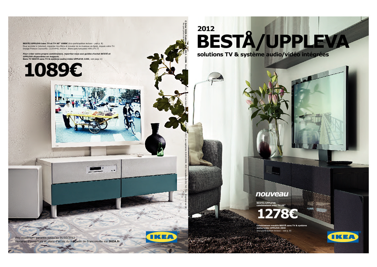 ikea uppleva tv syst me audio vid o int gr s en vente franconville d s demain ikeaddict. Black Bedroom Furniture Sets. Home Design Ideas