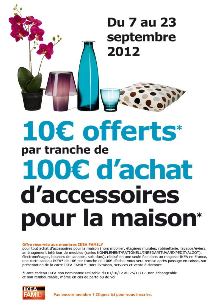 promotion ikea 10 offerts par tranche de 100 d 39 achats ikeaddict. Black Bedroom Furniture Sets. Home Design Ideas