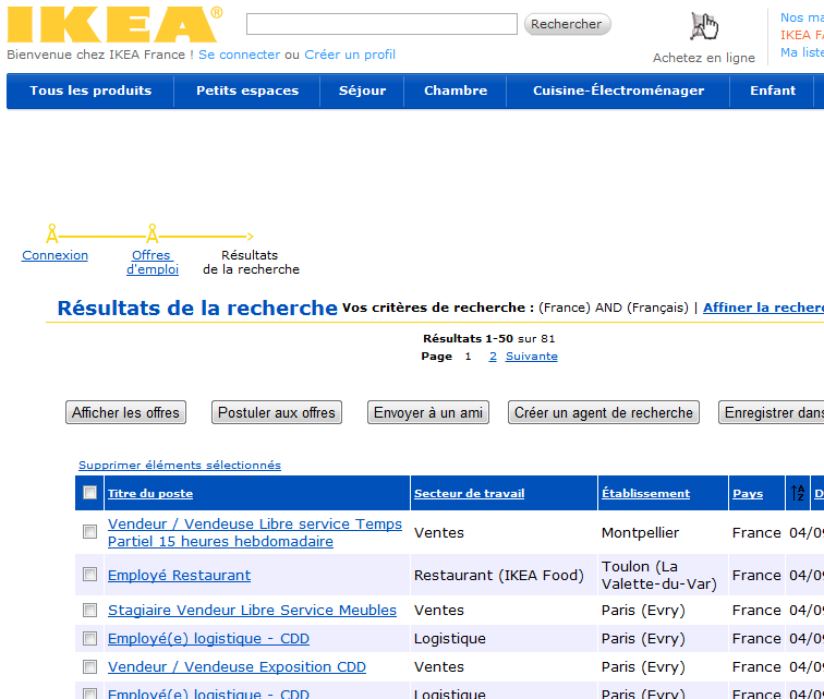 ikea recrute cdi cdd et stagiaires ikeaddict. Black Bedroom Furniture Sets. Home Design Ideas