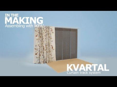 instructions de montage vid o rail rideaux kvartal ikeaddict. Black Bedroom Furniture Sets. Home Design Ideas