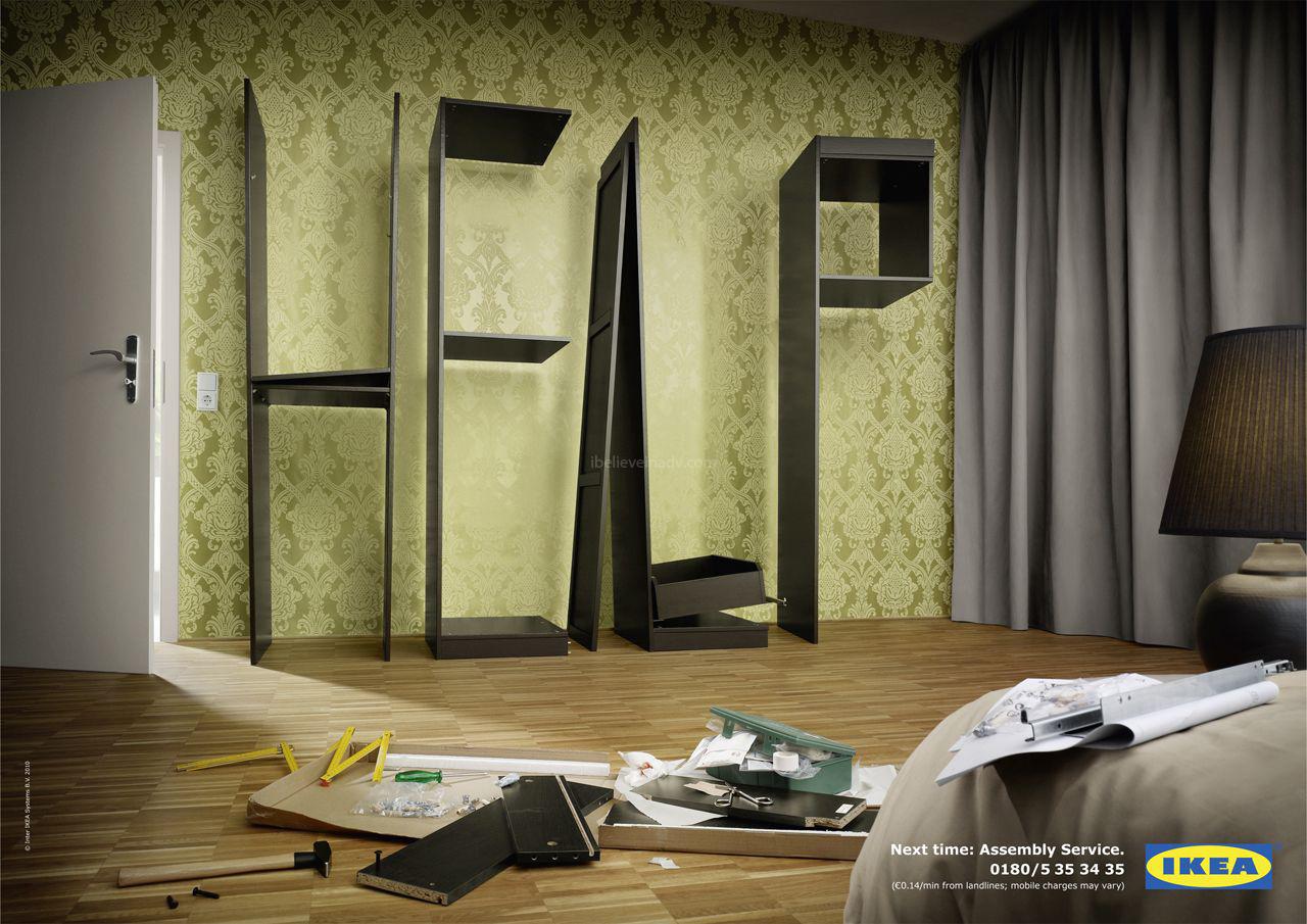 Publicit pour le service d 39 assemblage d 39 ikea ikeaddict for Assemblage meuble ikea
