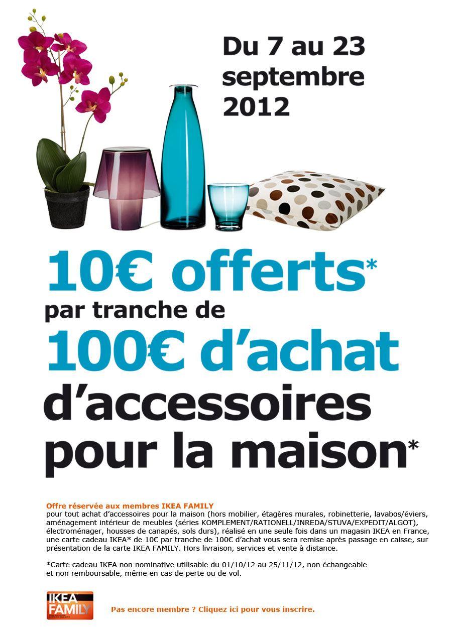 promotion ikea 10 offerts par tranche de 100 d 39 achats ikeaddict. Black Bedroom Furniture Sets. Home Design Ideas