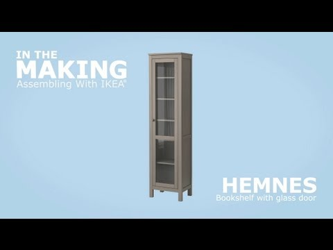 instructions de montage vid o ikea hemnes biblioth que vitr e ikeaddict. Black Bedroom Furniture Sets. Home Design Ideas