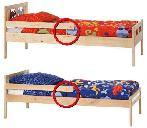 IKEA rappelle certains lots de lits juniors KRITTER et SNIGLAR pour réparation
