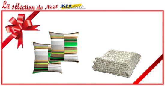 id es cadeaux ikea pour no l coussin et plaid stockholm ikeaddict. Black Bedroom Furniture Sets. Home Design Ideas