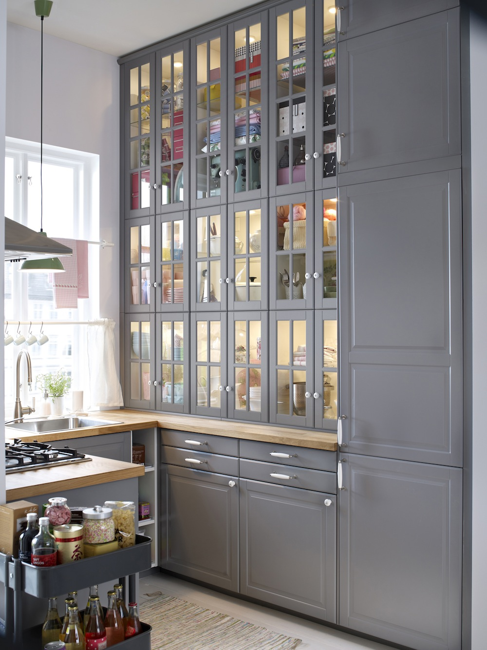 Cuisines ikea metod finition bodbyn gris ikeaddict for Meubles de cuisine integree