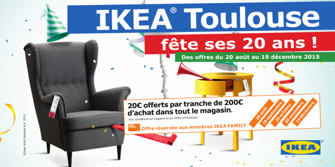 ikea toulouse f te ses 20 ans avec une avalanche de bonnes affaires. Black Bedroom Furniture Sets. Home Design Ideas