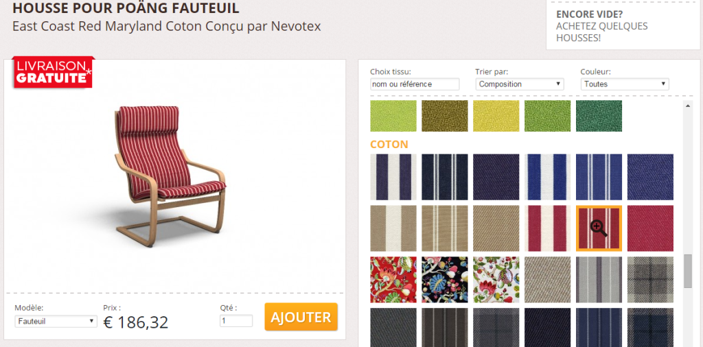 Covercouch d barque en france ikeaddict for Housse fauteuil poang