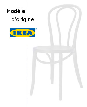 4 Chaises De Bistro Jardin Blanches Ikea Ogla